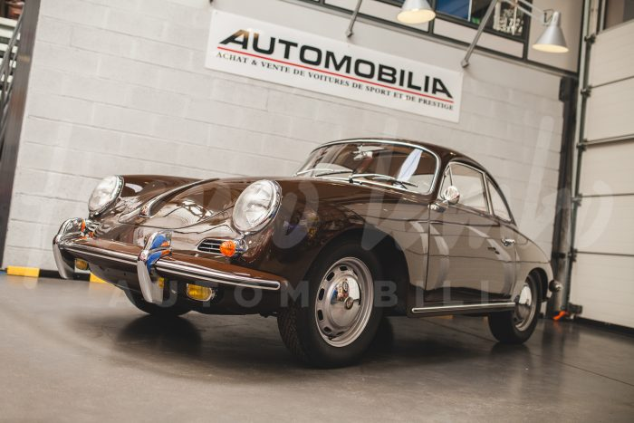 Rare Porsche 356 SC Togo Brown with Electric Sunroof, Matching