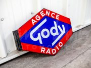 Agence Gody Radio enamel sign