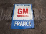 GM General Motors France painted metal sign
