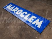 Large Baroclem enamel sign