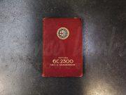 Alfa Romeo 6C 2300 – Manuel d'utilisation et de maintenance