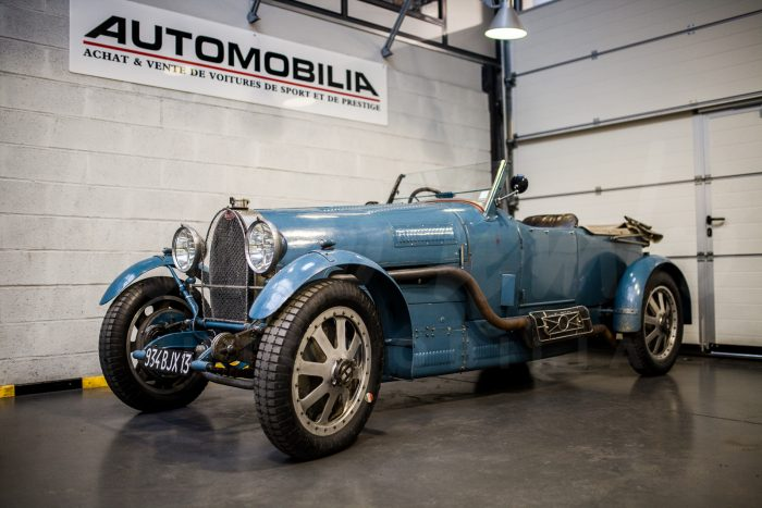 Bugatti Type 43 Torpedo Grand Sport 1928 – Built by the best French specialists with many original parts – French Bugatti papers – Le Mans Classic and Mille Miglia eligible