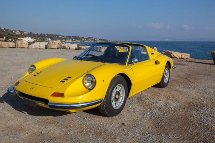 """Incredible Dino 246 GTS Giallo Fly 1973 """"matching numbers"""", fully restored by the best in Italy in 1994"""