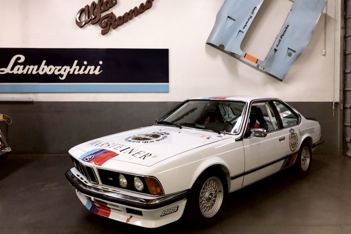 BMW 635 CSi 1983 historic racing configuration. FIA eligible