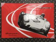 Enamel plate Porsche Spyder 550 Limited edition