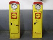 Shell fuel pumps from the 50s