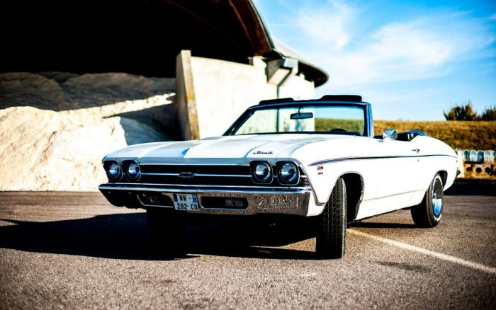 Rare Chevrolet Chevelle Convertible with the fabulous engine 454 ci .1969