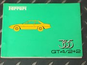 Very rare Ferrari 365 GT4 / 2+2 Spare parts catalogue 1973 in French / Italian / English, 49 pages in very good condition, size 22 x 16 centimeters, ask for price