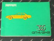 Ferrari 365 GT4 / 2+2 Very rare spare parts catalogue 1973 in French / Italian / English