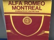 Very rare Alfa Romeo Montreal operating and maintenance manual in French, 84 pages in very good condition, size 15 x 21 centimeters, ask for price