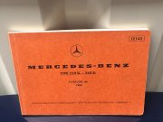 Mercedes type 250 sl /280 sl maintenance manual 1968 in German / French / English / Italian / Spanish, 132 pages in very good condition, size 21 x 14,5 centimeters, ask for price