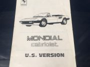 Manual Supplement  Ferrari Mondial Convertible in English / Italian, 12 pages in very good condition, size 14,5 x 20,5 cm, ask for price