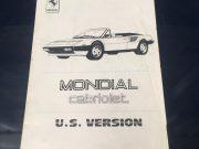 Ferrari Mondial Convertible – Manual Supplement in English / Italian