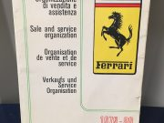 Brochure sales and service organization manual Ferrari 1979-1980 in Italian / French / English / German, 55 pages in very good condition, size 15 x 21 cm, ask for price