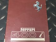 Original Ferrari 400 i owner's manuel in Italian / French / English, 115 pages in very good condition, size 15 x 21, ask for price