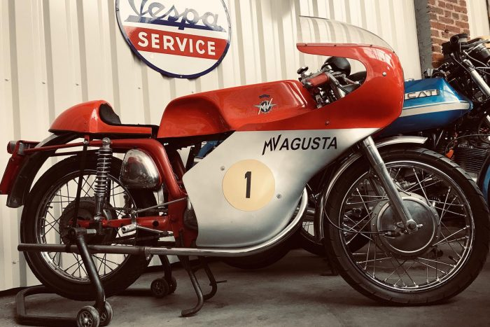 MV Agusta Type 350 B of 1971 carinated. Matching numbers