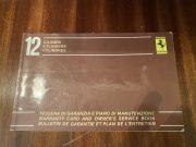 Ferrari BB 512 I – Maintenance book