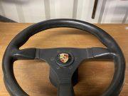 Porsche steering wheel in black leather