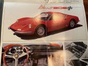 Rare Ferrari 206 GT tryptic advertising brochure