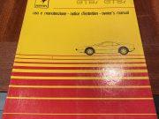 Ferrari 308 GTB i /GTS i original Owner's manual