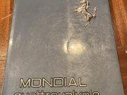 Ferrari Mondial Quattrovalvole 1982, original owner's manual