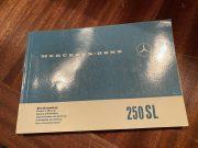 Mercedes 250 SL 1967, notice d'entretien d'ORIGINE