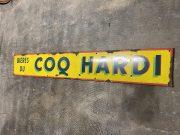 Bières du COQ HARDI enamel plate, original condition