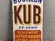 Bouillon Kub plaque émaillée, état d'origine
