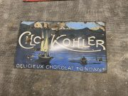 Extrêmement rare plaque émaillée Cho Kohler