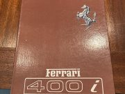 Ferrari 400 i 1982, Original owner's manual
