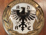 Original ADAC Munich, badge émaillé 1953, (E.F Wiedmann Frankfurt)