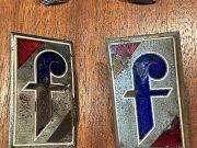 Pininfarina enameled logos in 2 pieces 1955/65 ORIGINAL