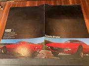 Lancia Stratos rare brochure publicitaire d'ORIGINE