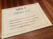 Lancia Thema 8.32 caractéristiques des voitures équipées de pot catalytique