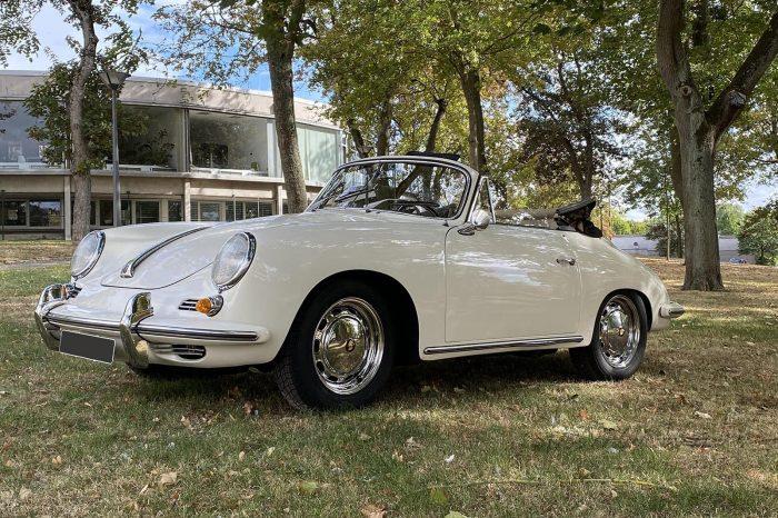 Rare et convoitée Porsche cabriolet 356 1600 SC