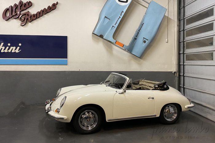 Rare and coveted Porsche convertible 356 1600 SC