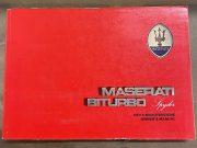 Maserati Biturbo Spyder Owner manual