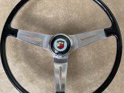 Original Abarth Fiat steering wheel aluminium with horn button