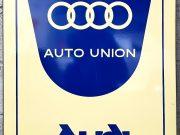Plaque émaillée d'origine Auto Union / Audi, année 1975.