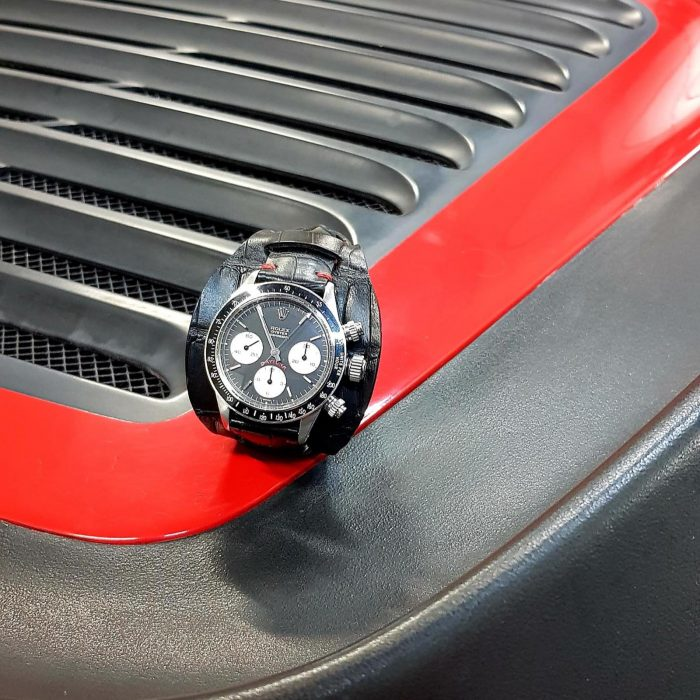 Rolex Daytona Chronographe acier 6263 Big Red 1979.