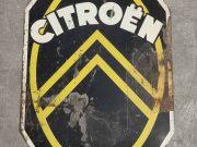 Citroën, véritable plaque tôles peintes, Circa 1930.